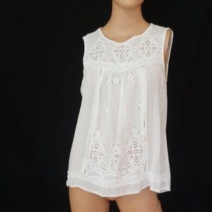 3/$24💟KNOX ROSE Boho Crochet Lace Blouse